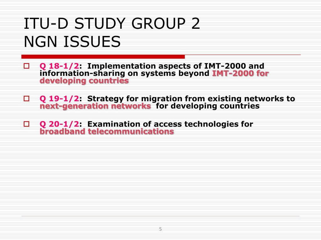 ITU-D STUDY GROUP 2