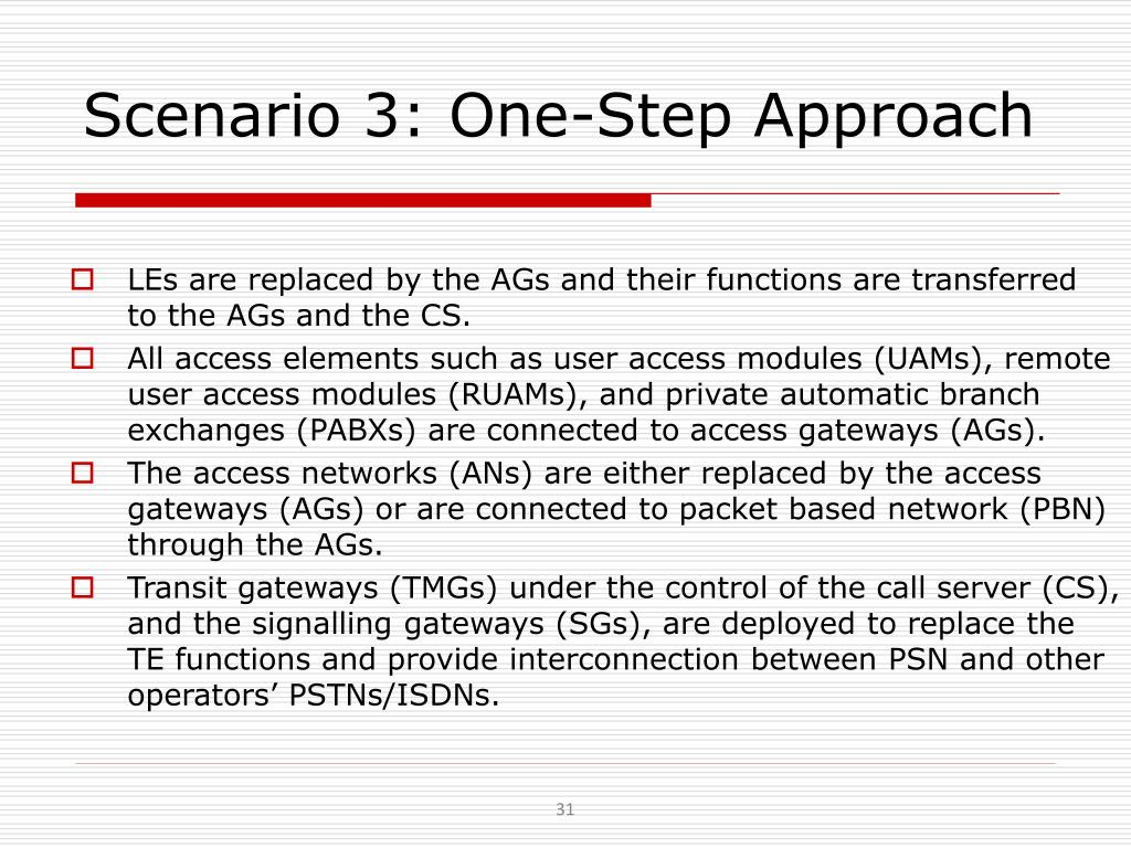 Scenario 3: One-Step Approach