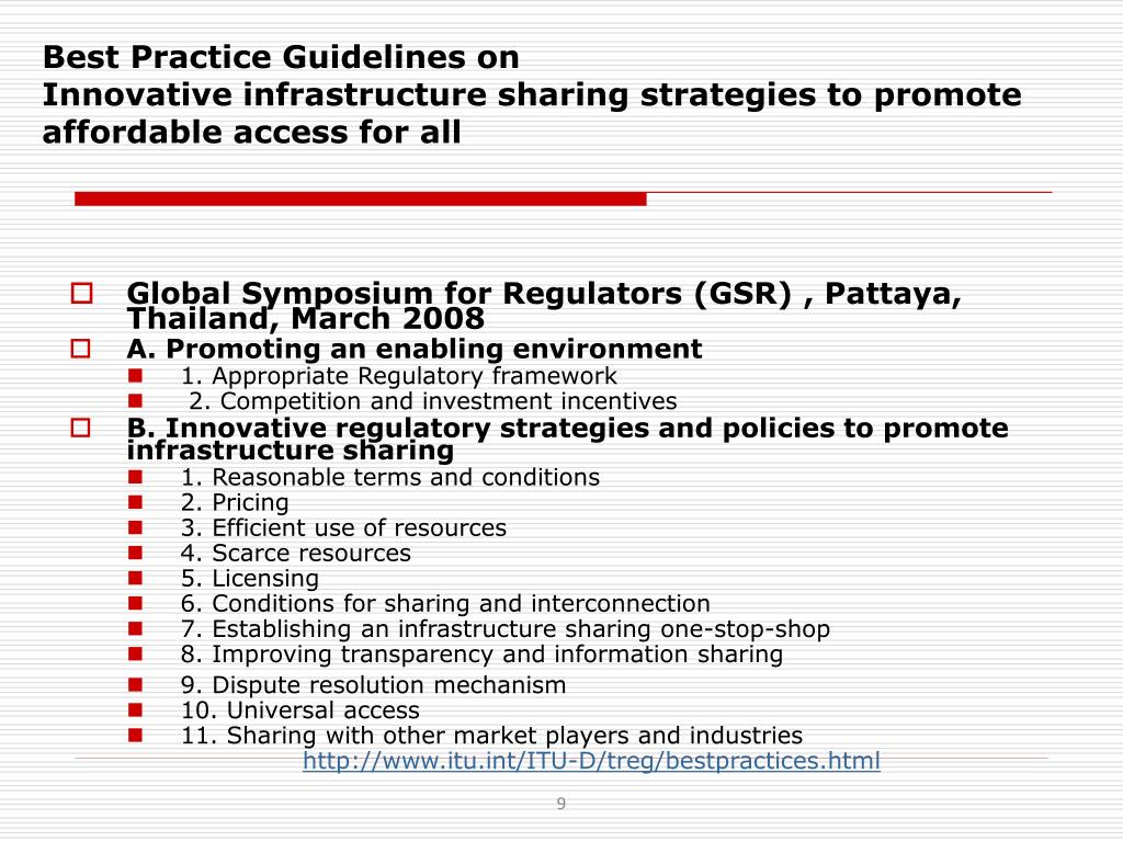 Best Practice Guidelines on