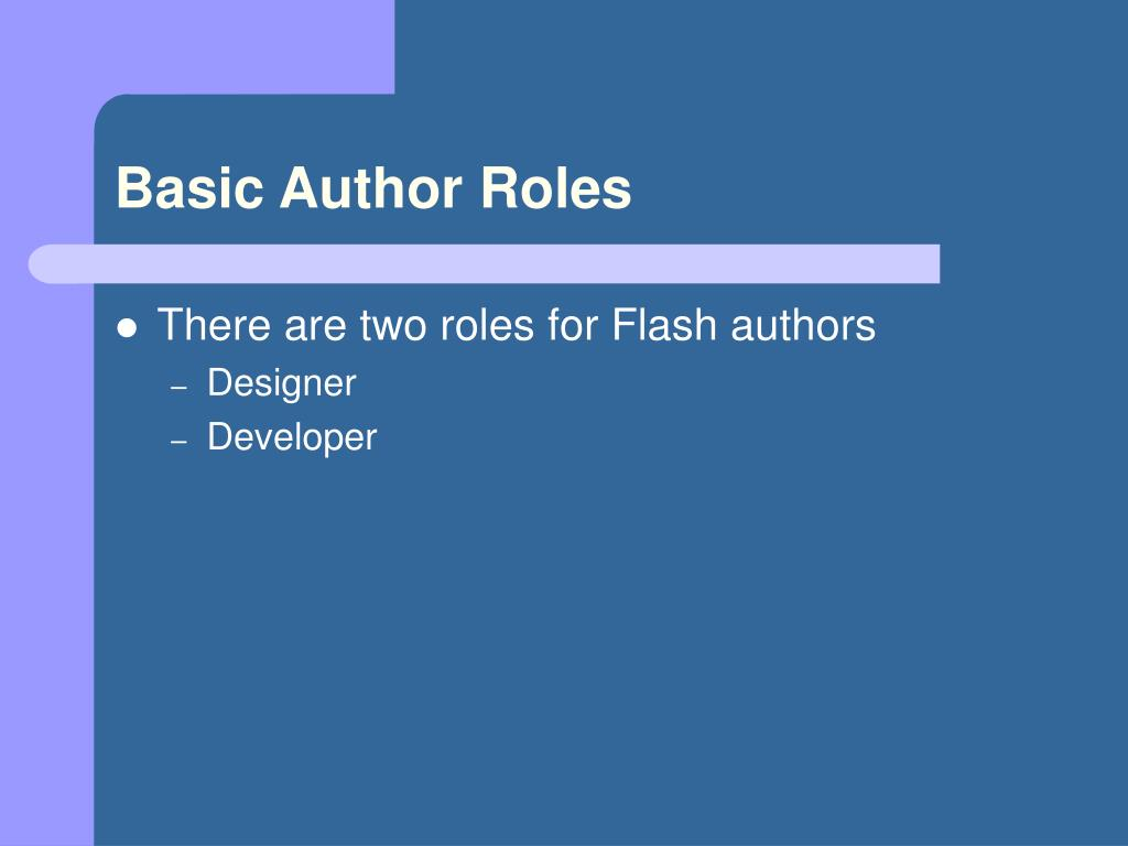Basic Author Roles