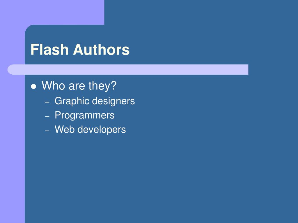 Flash Authors