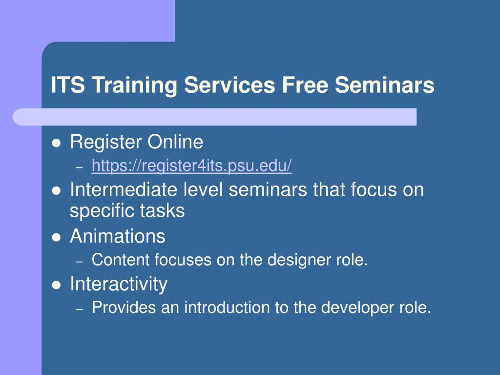 ITS Training Services Free Seminars