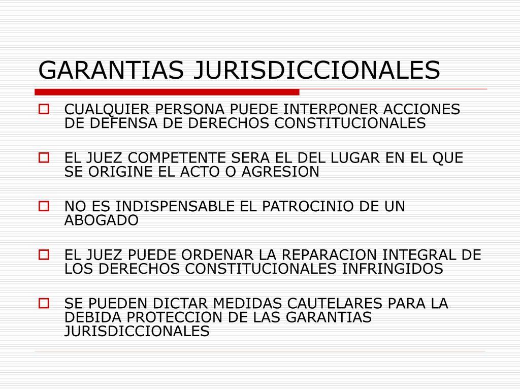 GARANTIAS JURISDICCIONALES