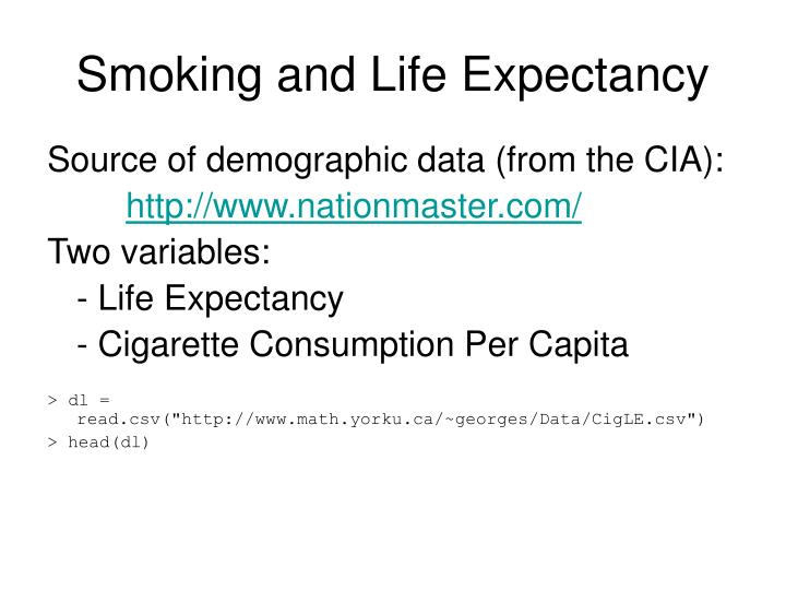 Smoking and Life Expectancy