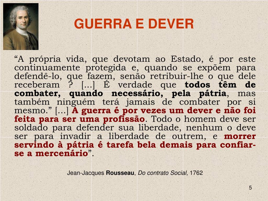 GUERRA E DEVER