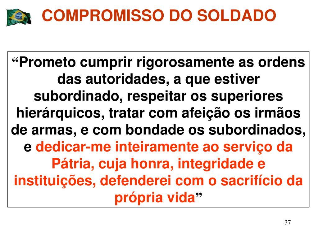 COMPROMISSO DO SOLDADO