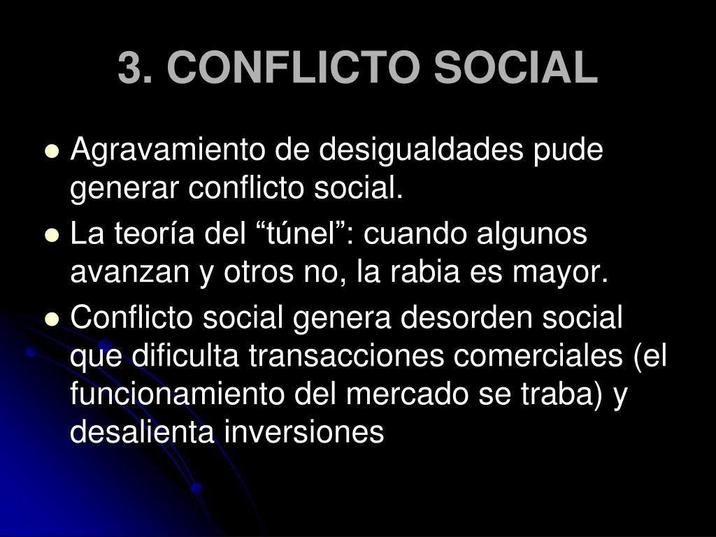3. CONFLICTO SOCIAL