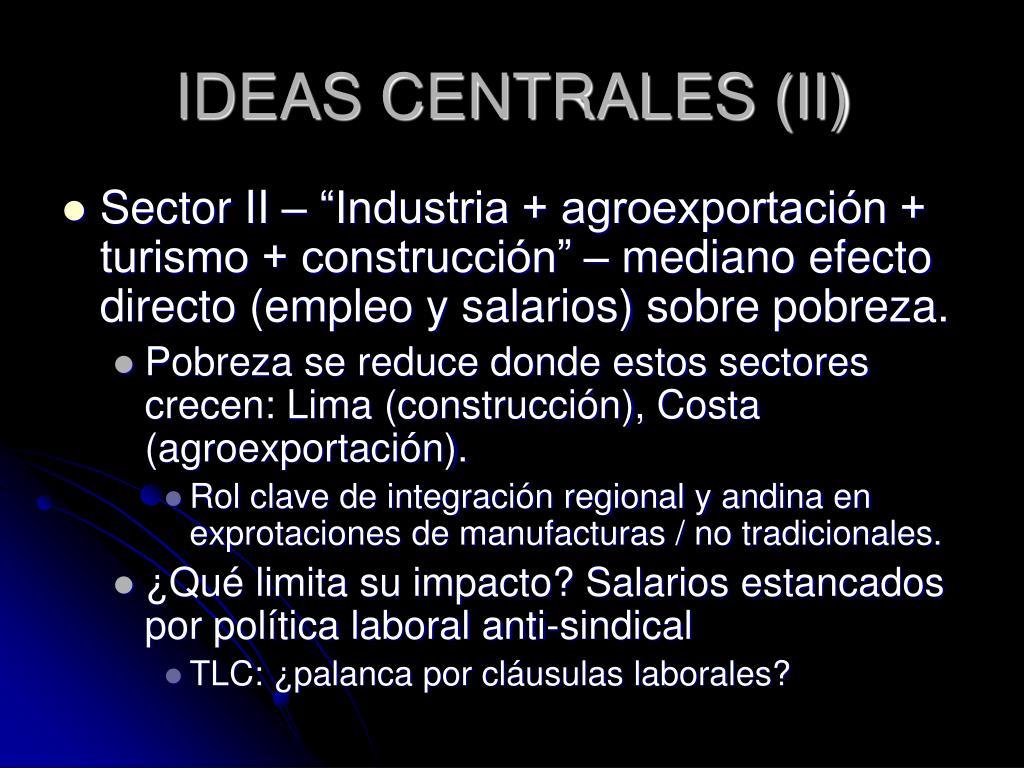 IDEAS CENTRALES (II)