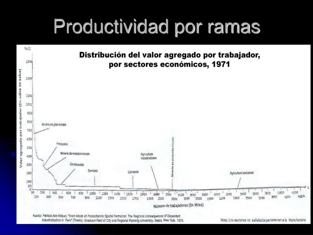 Productividad por ramas