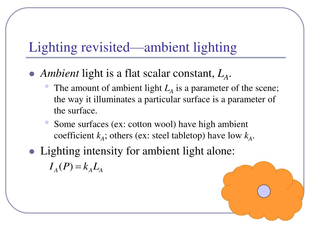 Lighting revisited—ambient lighting