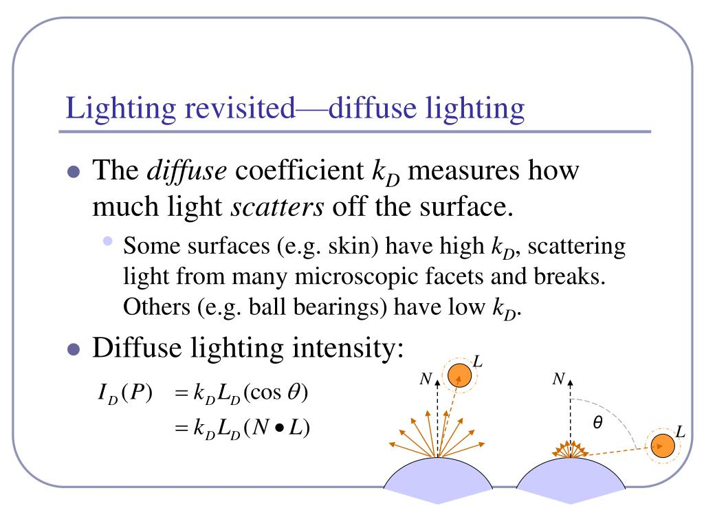 Lighting revisited—diffuse lighting