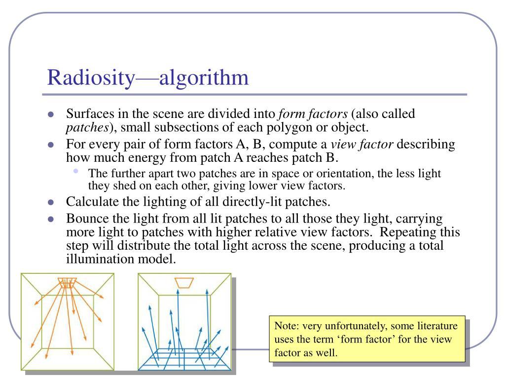 Radiosity—algorithm