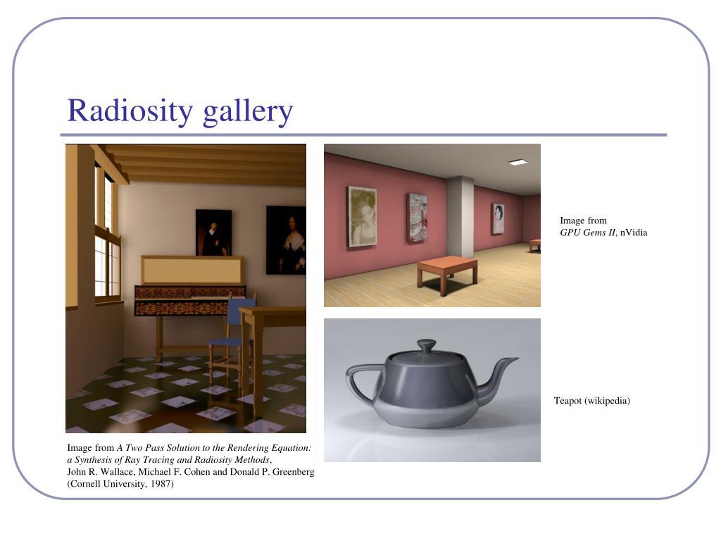 Radiosity gallery