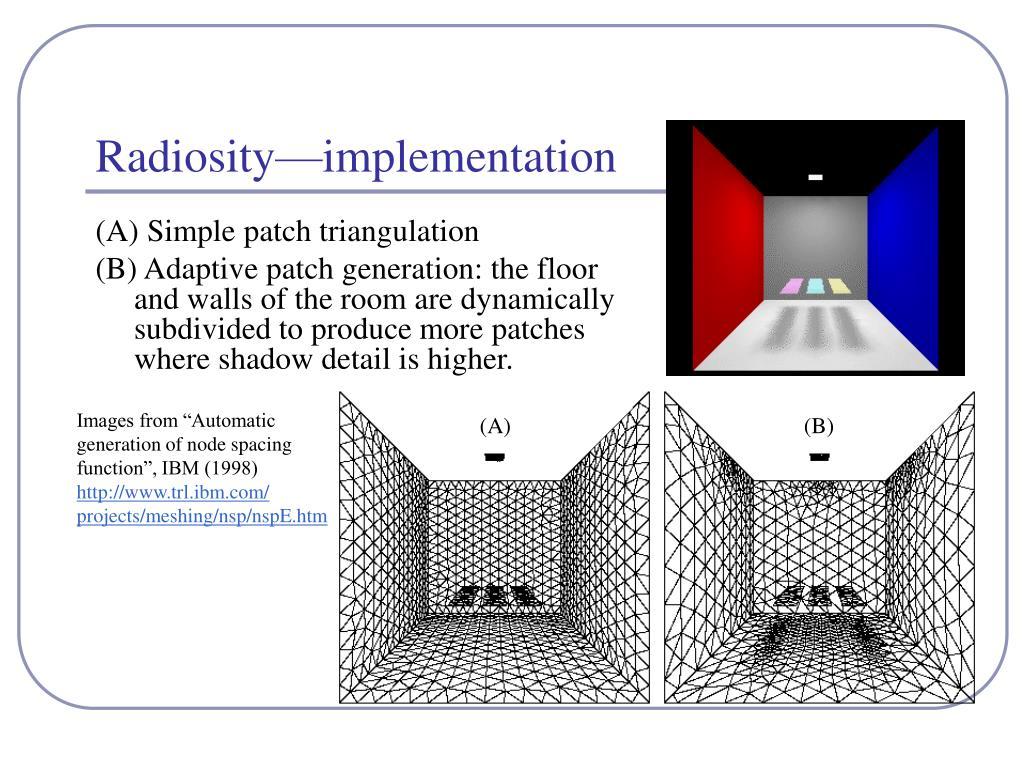 Radiosity—implementation