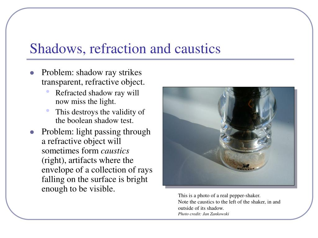 Shadows, refraction and caustics