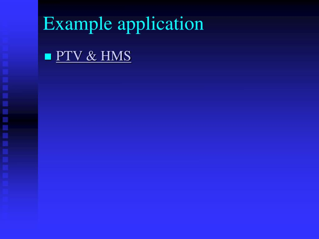 Example application