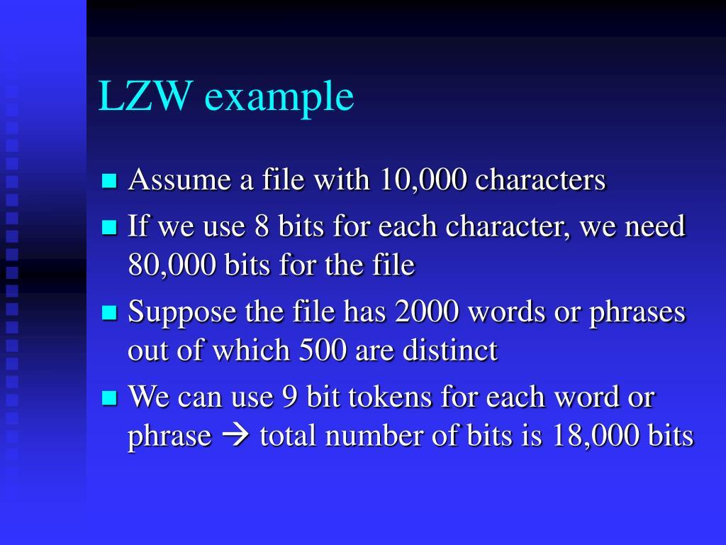 LZW example