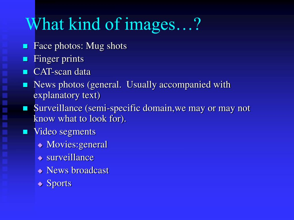 What kind of images…?