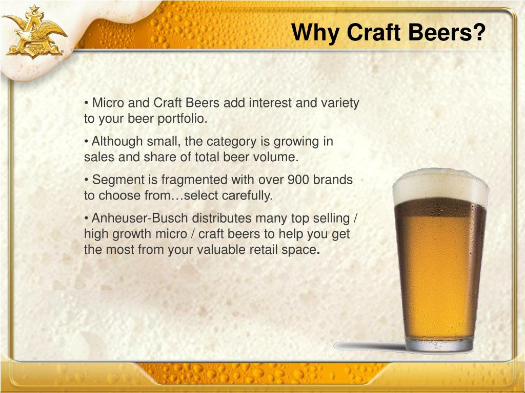 Why Craft Beers?