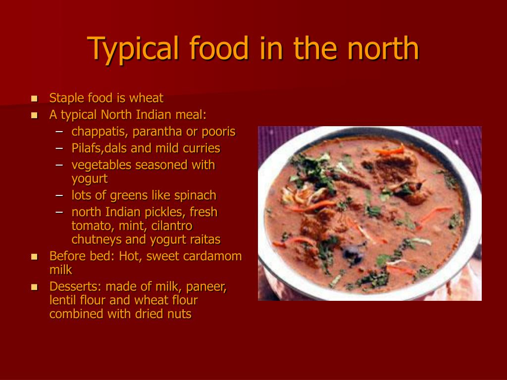 Typical food in the north