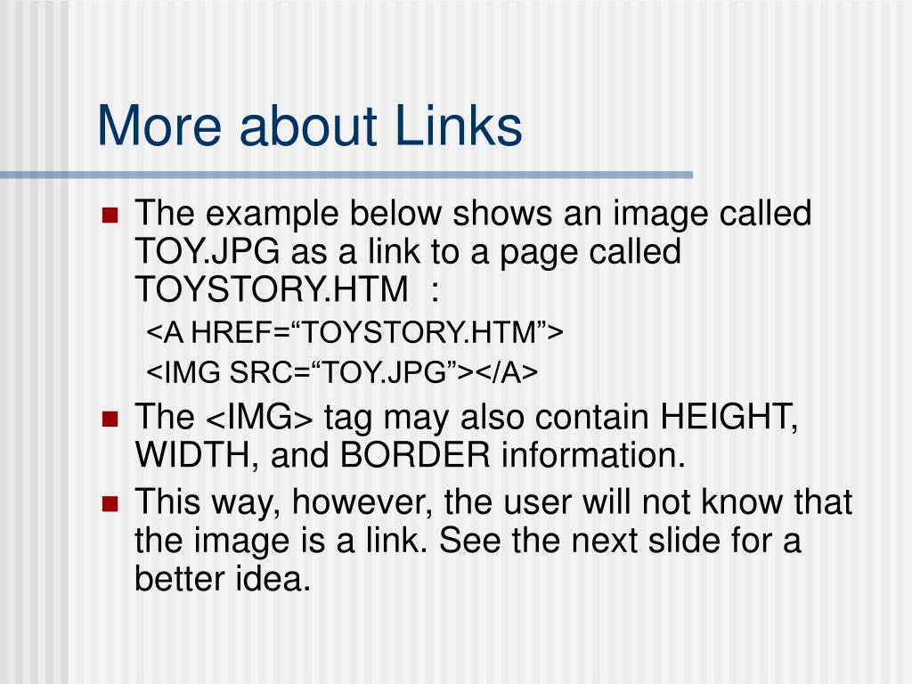 More about Links