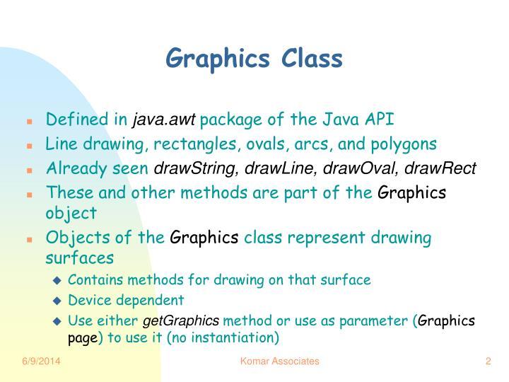 Graphics Class