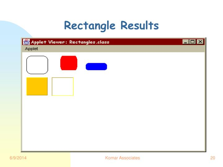 Rectangle Results