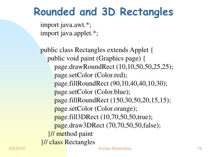 Rounded and 3D Rectangles