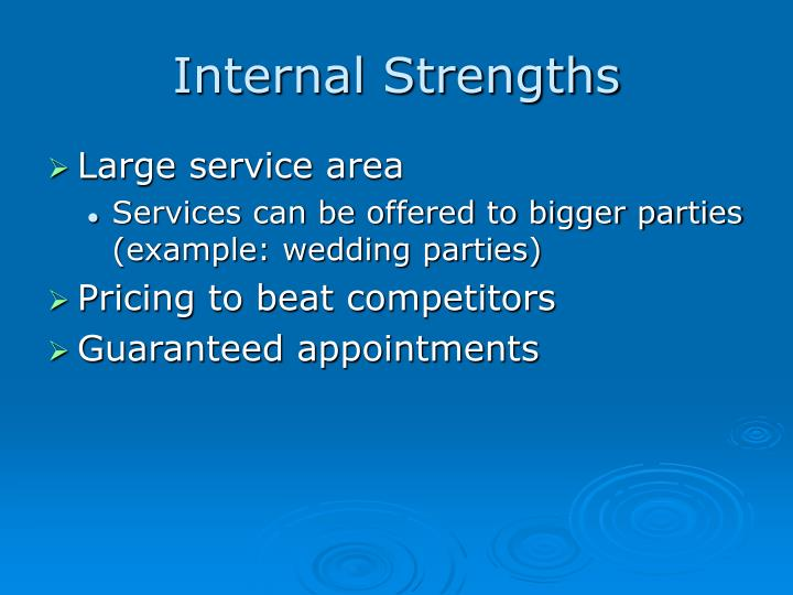 Internal strengths