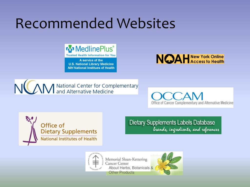 Recommended Websites