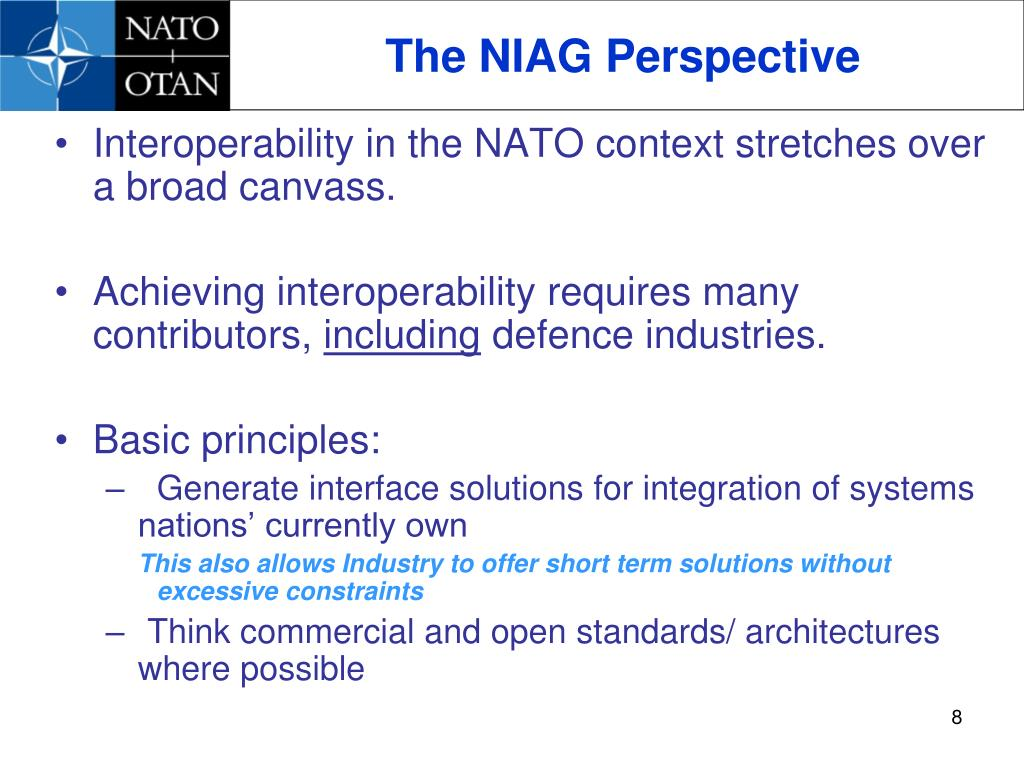 The NIAG Perspective