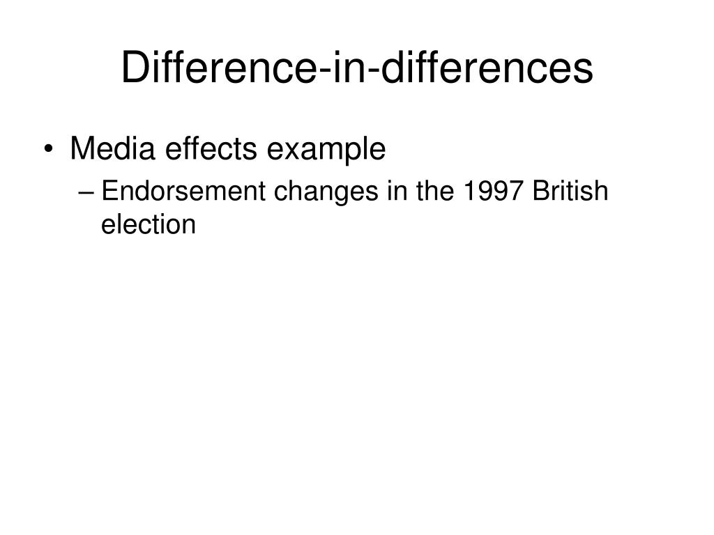 Difference-in-differences