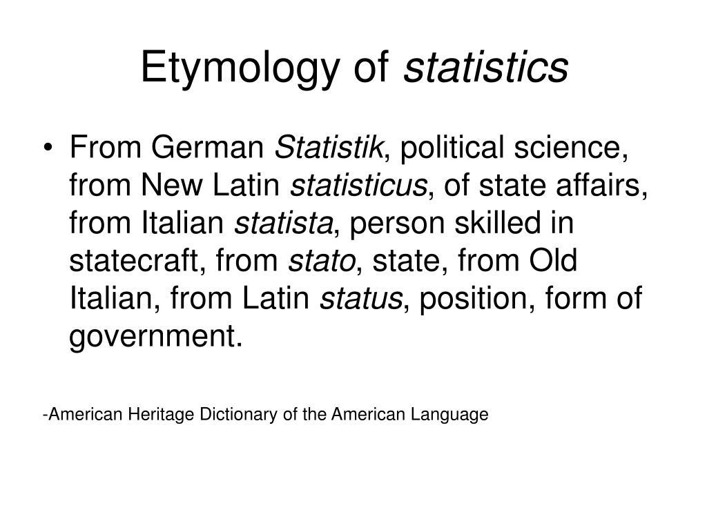 Etymology of