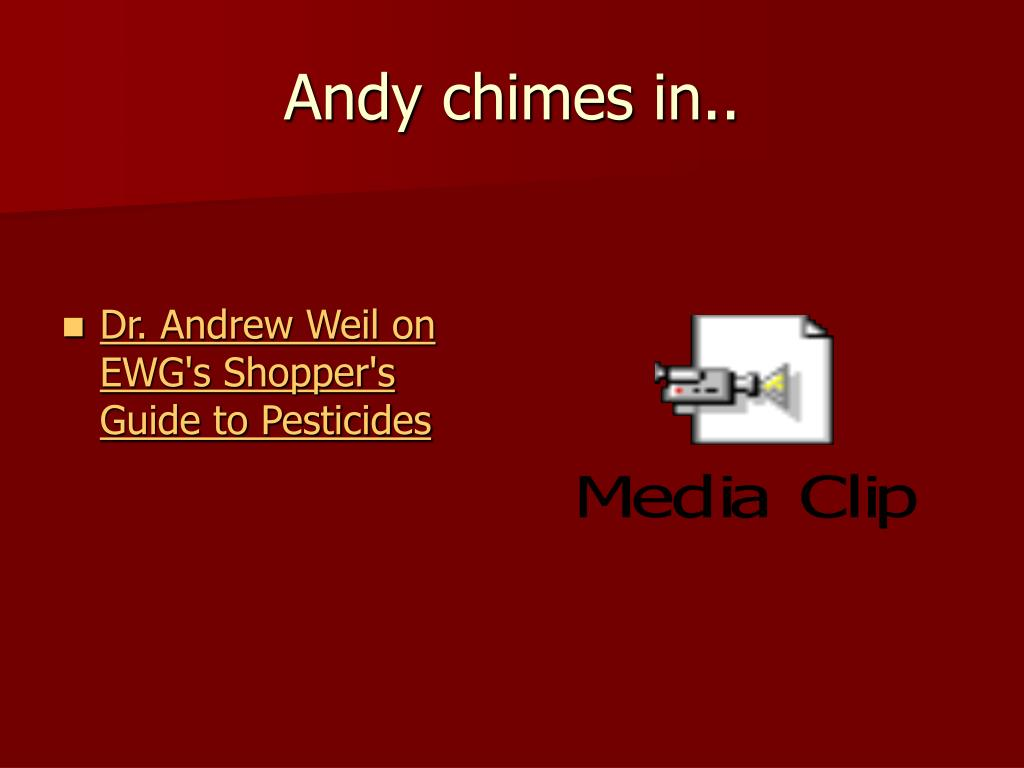 Andy chimes in..