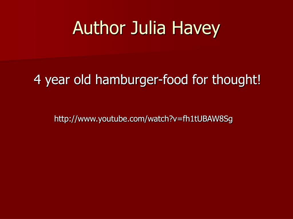 Author Julia Havey