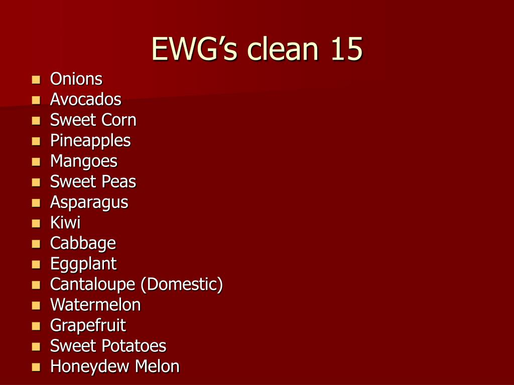 EWG's clean 15