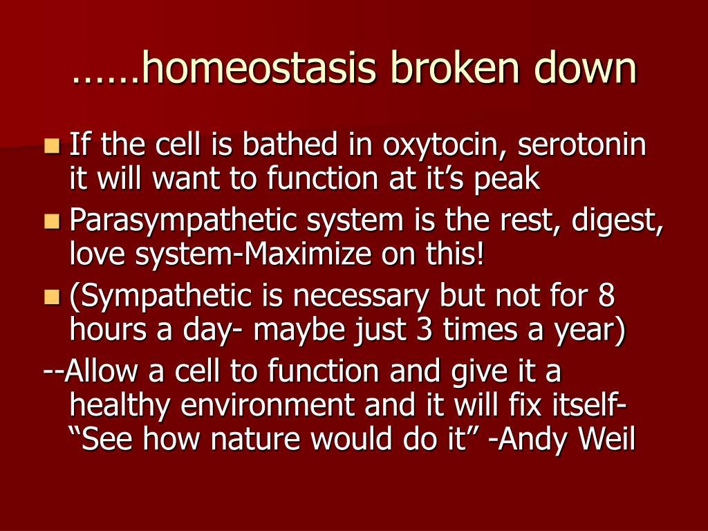……homeostasis broken down