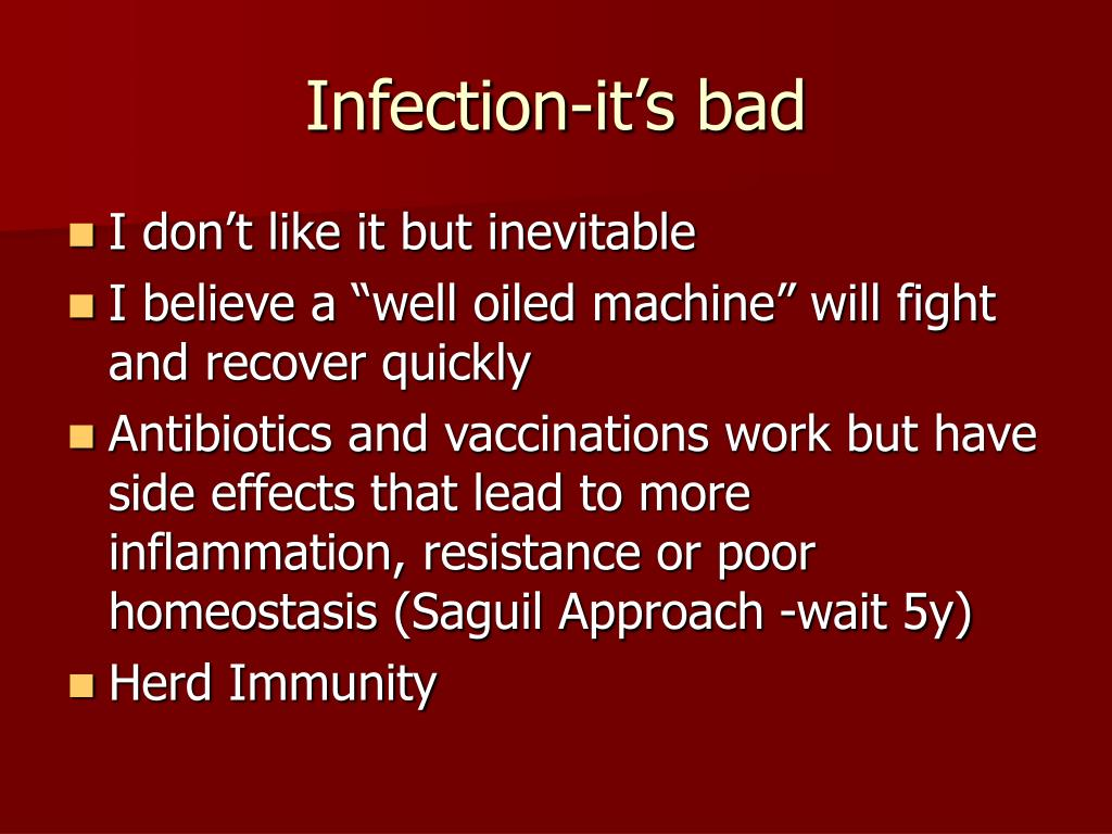 Infection-it's bad