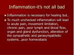 inflammation it s not all bad