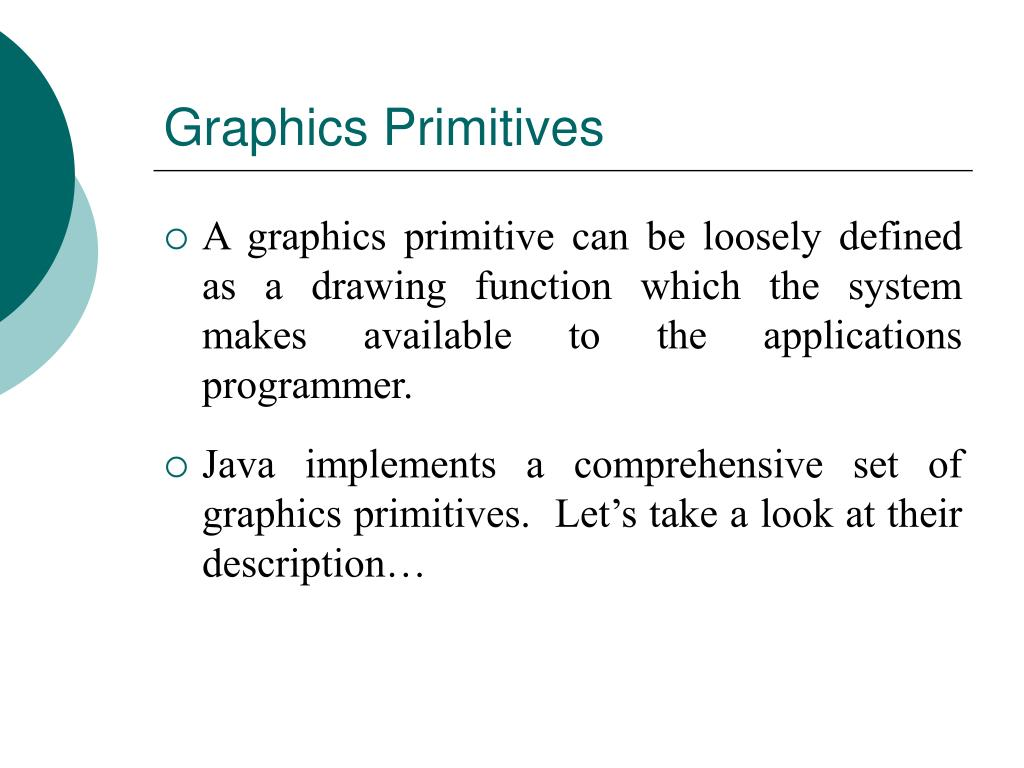 Graphics Primitives