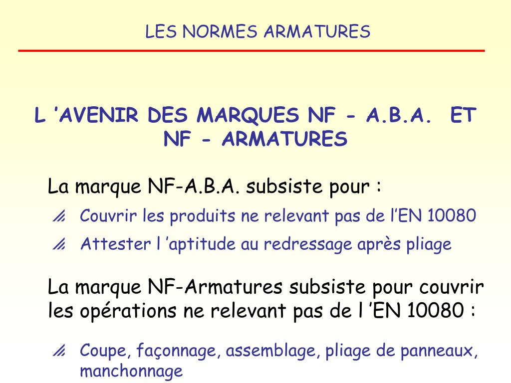 L'AVENIR DES MARQUES NF - A.B.A.  ET