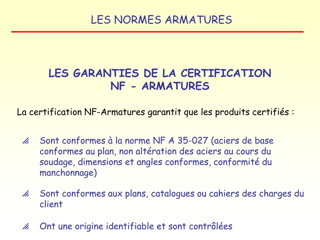 LES GARANTIES DE LA CERTIFICATION
