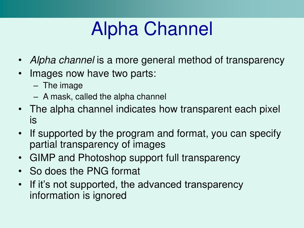 Alpha Channel
