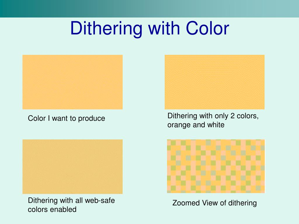 Dithering with Color