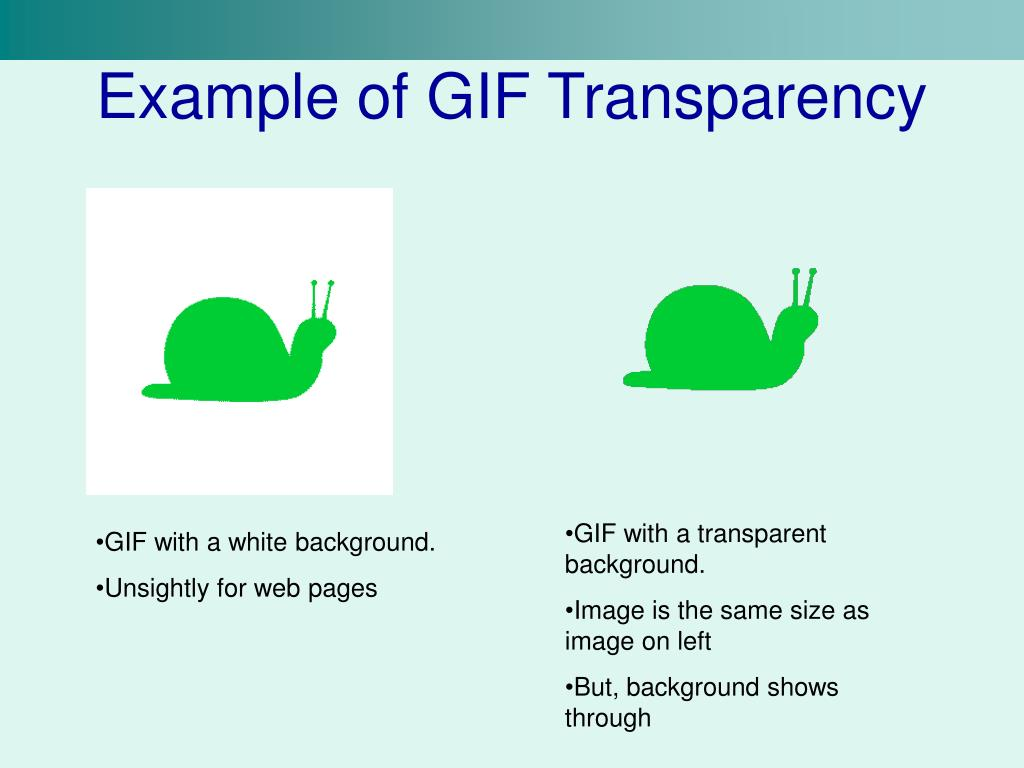Example of GIF Transparency