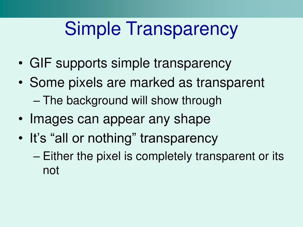 Simple Transparency