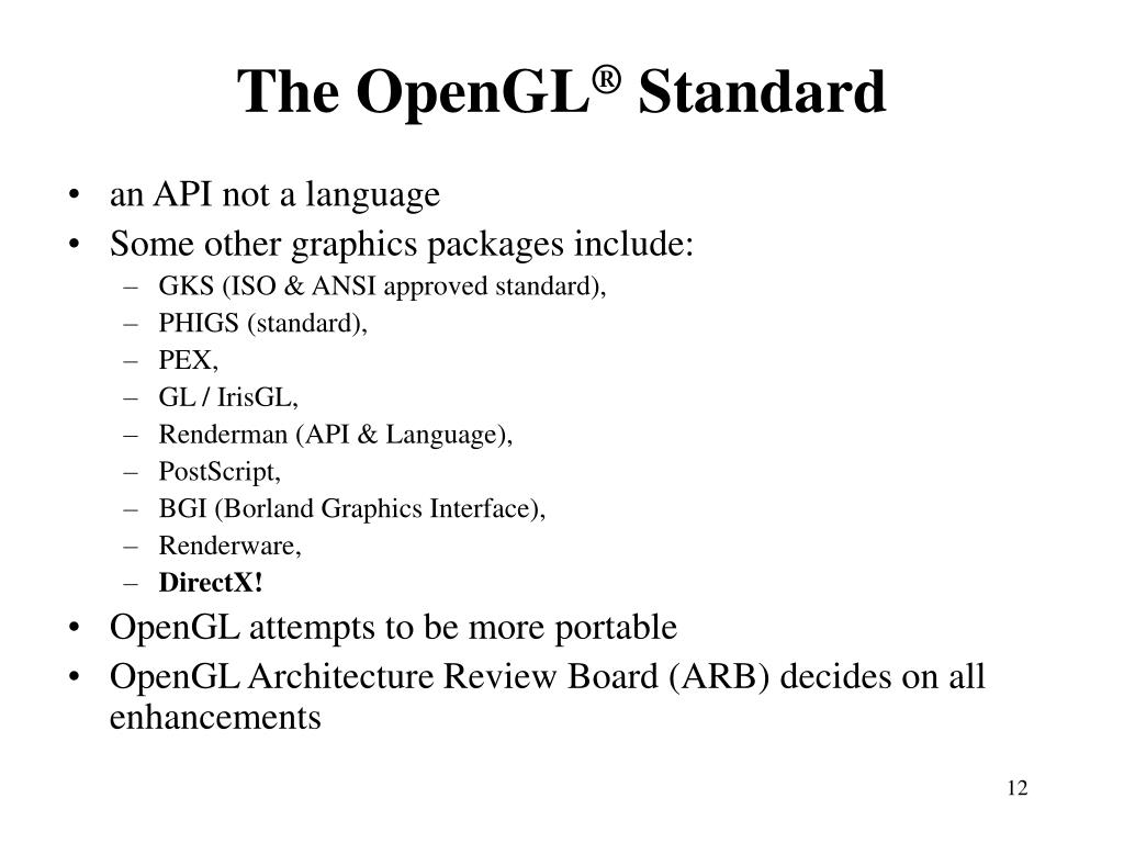 The OpenGL