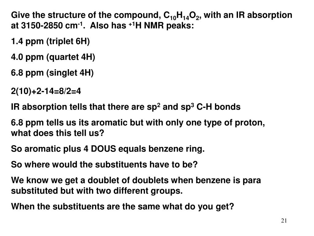 Give the structure of the compound, C