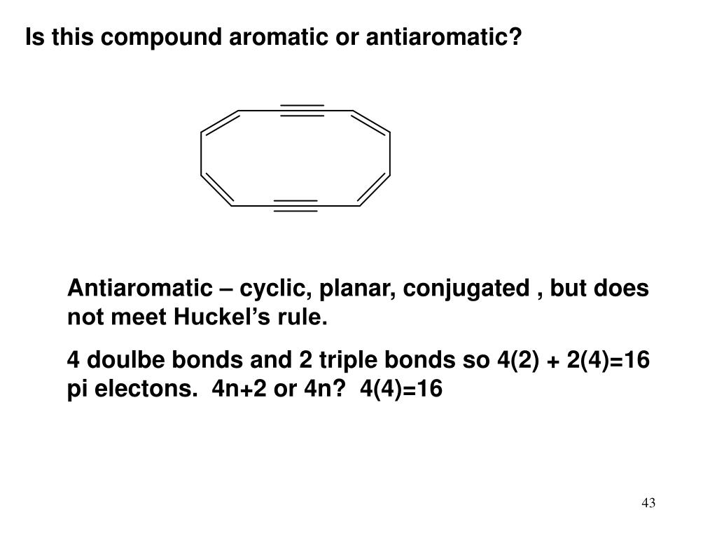 Is this compound aromatic or antiaromatic?