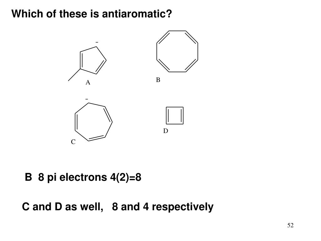 Which of these is antiaromatic?